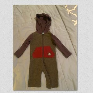 Andy & Evan Baby Boy Hooded Overall